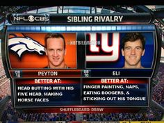 The REAL Eli and Peyton Manning Sibling Rivalry Comparison - Daily Snark