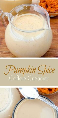 Pumpkin Spice Coffee Creamer - Coffee Creamer - Ideas of Coffee Creamer - Easy recipe for the lust-worthy Pumpkin Spice Coffee Creamer using just 6 yummy ingredients. Pumpkin Spice all the things! Pumpkin Coffee Creamer, Homemade Coffee Creamer, Spiced Coffee, Pumpkin Spice Latte, Easy Coffee Creamer Recipe, Coffee Coffee, Coffee Drinks, Coffee Enema, Pumpkin Spice Cappuccino Recipe