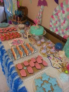 Mermaids Baby Shower Party Ideas | Photo 1 of 77 | Catch My Party