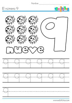 El número nueve: http://edufichas.com/actividades/matematicas/numeros/el-numero-9-ficha-del-nueve/  #aprenderlosnumeros