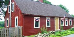 With its red exterior and mustard door, this patriotic Cape gets an A+ for curb appeal. It dates to 1797 and is chock-full of antique charm, from the wooden ceiling beams to the wide plank floors. Asking price: $129,900 Listing agent: Deborah Grimaldi, (401) 837-9633  For more information, visit CIRCA Old Houses   - CountryLiving.com