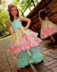 Kumari Garden Ruffle and Lace Handmade Boutique Dress Sizes 6-12 M, 12-18 M, 18-24 M, 2, 3, 4, 5