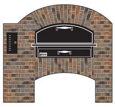 MB260 Stacked Pizza Oven with Round Dome and Rustic Finish from Marsal Pizza Ovens