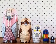 Australian Bird Babushka - we love Australian Birds! I need those middle three in my life