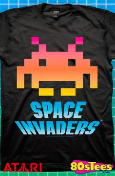 Space Invaders T-Shirt: Atari Mens T-Shirt This popular video game t-shirt will be your favorite with the artsy design and illustration.