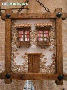 Miniature Furniture, Dollhouse Furniture, Wood Block Crafts, Vitrine Miniature, Driftwood Crafts, Miniature Crafts, Paperclay, House Landscape, Easy Diy Crafts