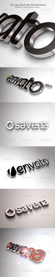 A 3D logo is always effective when looking for tht extra pop. Having this collection of 3D logos is very beneiftia when it comes to examining highlights, shadows and other elements. Great presentation.
