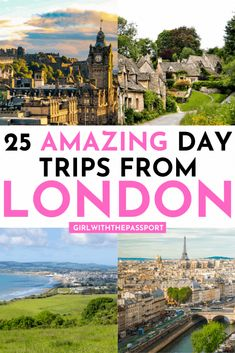 Check out this expert's guide to 25 amazing day trips from London by train! It's filled with secret tips on how to take easy day trips from the city of London! Voyage Europe, Europe Travel Guide, Travel Guides, Travel Destinations, Travel Advice, London England Travel, London Travel, Travel Uk, Ireland Travel