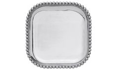 Pearled Small Square Platter | Lucky Den Elegant enough to hold its own yet simple enough to go with everything, this platter is perfect for any occasion.