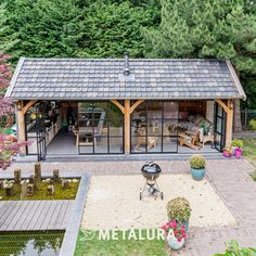 Outdoor Rooms, Outdoor Living, Sauna House, Gazebo, Pergola, Garage Guest House, Forest Cottage, House Extension Design, Backyard Paradise