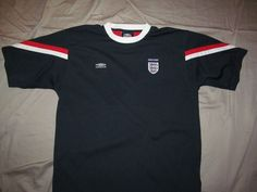 ENGLAND Football / Soccer Blue Jersey 3 Lions Embroidered patch, UMBRO, Men's XL #UMBRO #England