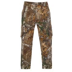 Men's Realtree Earthletics Modern-Fit Camo Cargo Pants, Size: 32X32, Brown Over