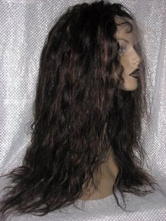 Remi Remy Full Lace Wig Wigs Indian Human Hair Wet Wave Wavy Multi Color Long #Unbranded #FullWigLACEWIG