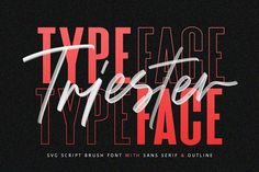 "Ad: Triester SVG Brush Font Free Sans by Maulana Creative on Give your designs an authentic brush handcrafted feel. ""Triester"" is perfectly suited to signature, stationery, logo, typography Brush Script, Brush Lettering, Lettering Styles, Font Styles, Hand Lettering, Sans Serif, Cool Fonts, New Fonts, Handwritten Fonts"