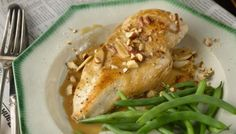Flash Chicken Saute with Cider and Almonds