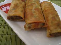 Spring Roll with Ground Meat - Recipe