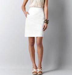 Petite Linen/Cotton Pencil Skirt ($59.50)...comes in black, white, khaki, and gray