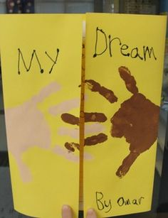 MLK activity - inside the kids can write about their dream. Then you can make a book of the entire class's ideas/dreams! Kids will love reading their own work