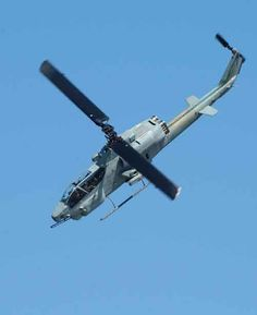 US Marine Corps Bell AH-1W Super Cobra attack helicopter.