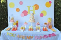 Hostess with the Mostess® - You Are My Sunshine- simple tablescape