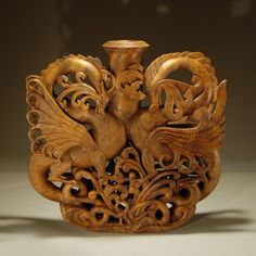 """Dragon/s Lair"" by Ron Fleming, redwood burl"
