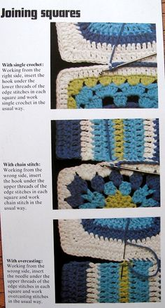 Techniques for joining granny squares