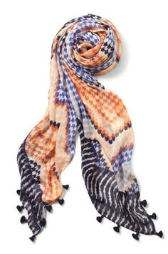 Globetrotter Scarf - Sunset by Stella & Dot.  Available 1/12 via the link in my profile! Luxurious scarf in a one-of-a-kind print. Lightweight enough to accessorize your year-round style during the day, yet functional enough to keep you warm in the chill of the night.