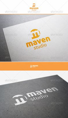 """Maven Studio - M Logo - An excellent logo template suitable for companies whose name starts with the letter M.  Maven Studio – M Logo – is a multipurpose logo. This logo that can be used by multi media developers, design agencies, web designers, photo and video studios, software companies and applications, etc.  Simple, Unique and Professional """"m"""" logo letter."""