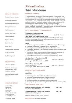 templates - Sample Resume Retail Sales