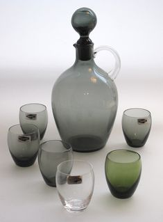 saara hopea - Google-haku Ice Cooler, Genie Bottle, Colored Vases, Egg Holder, Grey Glass, Finland, Tea Pots, Porcelain, Mugs