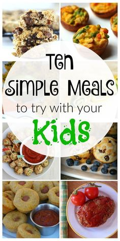 10 Simple Kid-Friendly Meals Looking for healthy options for breakfast, lunch or dinner, but don't have time to mess around in the kitchen? Check these simple, kid-friendly meals out! Healthy Weeknight Dinners, Healthy Meals For Kids, Healthy Options, Easy Kids Meals, Meals Kids Love, Healthy Dinner For Kids Picky Eaters, Recipes For Picky Eaters, Healthy Children, Healthy Lunches