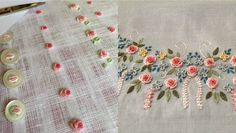 How to sew a button with a rococo suture