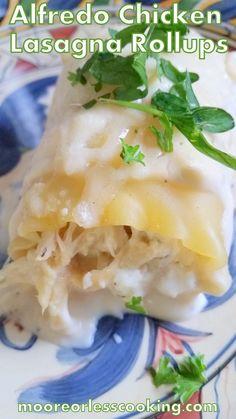 Alfredo Chicken Lasagna Rollups