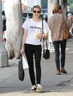 Emma Roberts Hangs Out in Hollywood