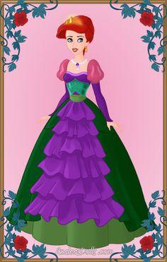 Azalea's Dolls ariel | ariel as queen done with heroine creator by azaleasdolls