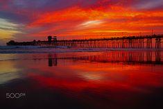 Fiery Sky at Sunset in Oceanside - April 21, 2018 - Fiery Sunset Oceanside    April 21, 2018   ©2018 Rich Cruse/ CrusePhoto.com