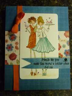 Stamping Bella Uptown Girls Felicity and Blair by lynnC