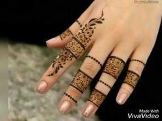 Latest Finger Mehndi Designs, Modern Henna Designs, Henna Art Designs, Mehndi Designs For Beginners, Mehndi Designs For Fingers, Beautiful Henna Designs, Mehandi Designs, Beautiful Patterns, Nail Designs
