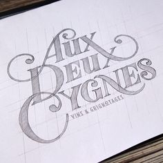 Working on a logo for a new parisian wine bar opening next may in the 11th…
