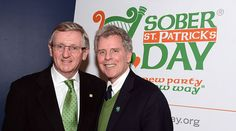 Ireland Consul General Noel Kilkenny (left) and Sober St. Patrick's Day founder William Spencer Reilly.