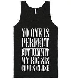 Big Sis Lil Sis Reveal Frat Tank - My Big Is Perfect Frat Tank