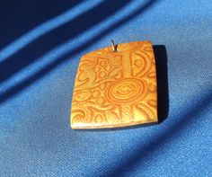 Polymer clay pendant For necklace etc Mica by KooshyJewellery.
