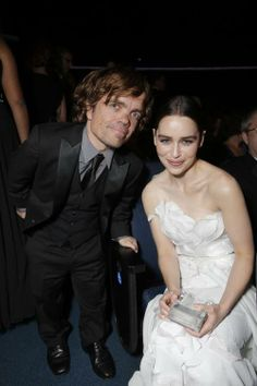 Peter Dinklage and Emilia Clarke
