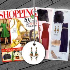 Pendientes de la colección Indian Nights en la revista Shopping Woman de Diciembre!