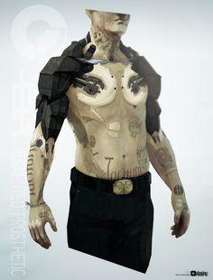 bradley wright | obsidian | reverie mothman arm front concept