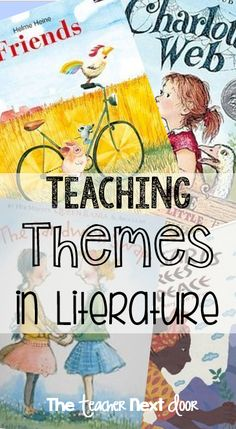 Determining theme in a piece of literature is a challenging but important… Reading Lessons, Reading Strategies, Reading Skills, Reading Comprehension, Reading Intervention, Math Lessons, Reading Themes, Reading Activities, Teaching Reading