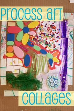 Dilly-Dali Art: Process Art {Collages}. Sometimes we get more excited than the kids do, and we are disappointed. i like how she handled it, because creativity takes practice!