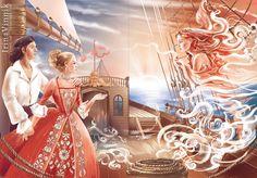 Incredible Fairy Tale Illustrations by Irina Vinnik. FunPalStudio  Art, Artist, Artwork, Illustrations, Entertainment, beautiful, creativity, paintings, drawings, vibrant color,nature, fairy tales, graphic designs.