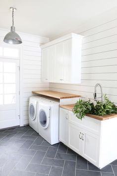 Modern meets rustic: http://www.stylemepretty.com/living/2015/09/24/laundry-made-gorgeous-with-seventh-generation/