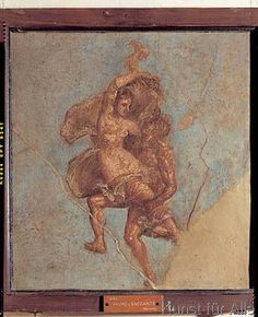 Römisch - Satyr und Bacchantin / röm.Wandmalerei